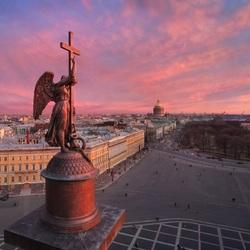 Пазл онлайн: Вид Петербурга с высоты
