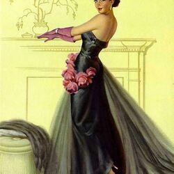 Пазл онлайн: Девушка в вечернем платье