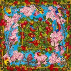Пазл онлайн: Цветущие яблони