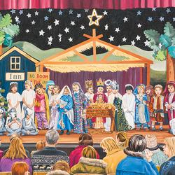 Пазл онлайн: Рождественская постановка