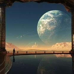 Пазл онлайн: Планеты в небе