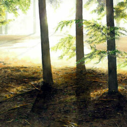 Пазл онлайн: Среди деревьев