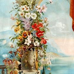 Пазл онлайн: Терасса в цветах