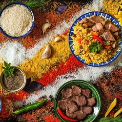 Пазл онлайн: Кухня Азербайджана