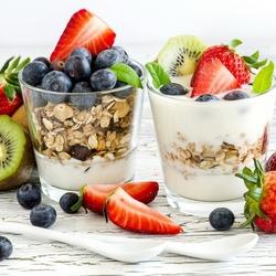 Пазл онлайн: Мюсли с йогуртом