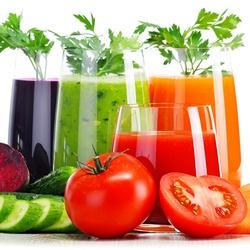 Пазл онлайн: Соки из овощей