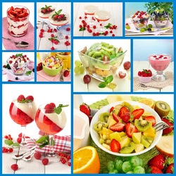 Пазл онлайн: Фруктовые десерты