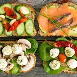 Пазл онлайн: Бутерброды