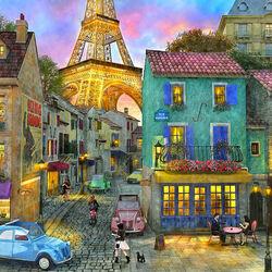 Пазл онлайн: Вечерний Париж