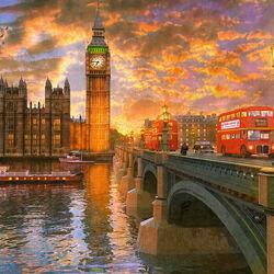 Пазл онлайн: Вестминстерский закат