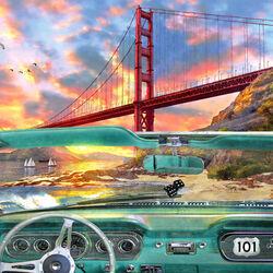 Пазл онлайн: Дорога в Сан-Франциско