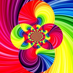 Пазл онлайн: Цветные круги