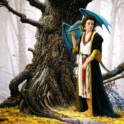 Пазл онлайн: Гивелинн и дракон