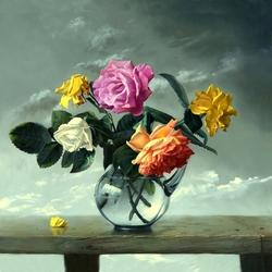 Пазл онлайн: Букет из роз