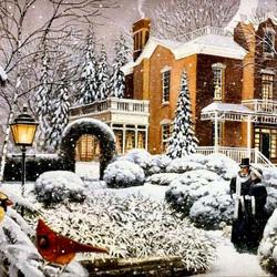Пазл онлайн: Снежное покрывало