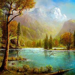 Пазл онлайн: Река