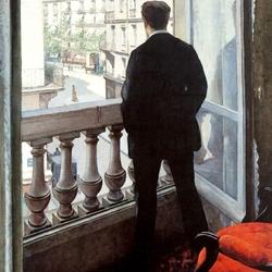Пазл онлайн: Молодой человек у окна