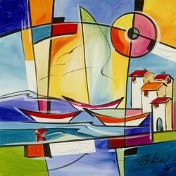 Пазл онлайн: Лодки