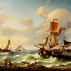 Пазл онлайн: Бурное море