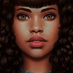 Пазл онлайн: Африканская девушка