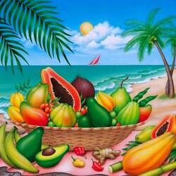 Пазл онлайн: Южные фрукты