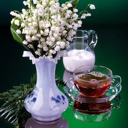 Пазл онлайн: Чашечка чая