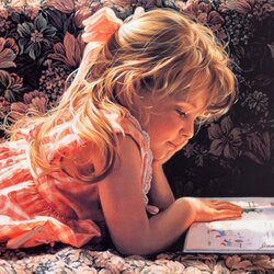 Пазл онлайн: Маленькая читательница