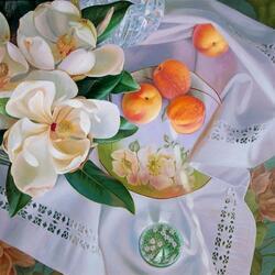 Пазл онлайн: Магнолия и персики