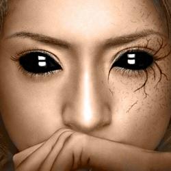 Пазл онлайн: Глаза цвета ночи
