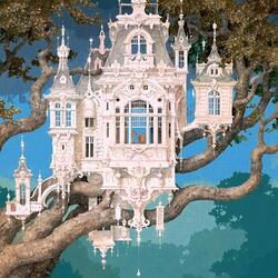 Пазл онлайн: Белый замок