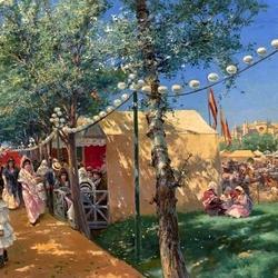 Пазл онлайн: Ярмарка в Севилье