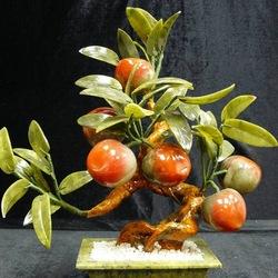 Пазл онлайн: Каменная нежность...Цветы из нефрита