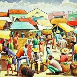 Пазл онлайн: На рынке