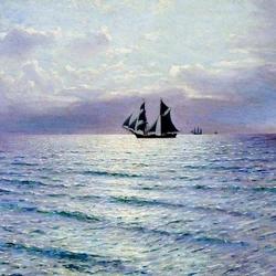 Пазл онлайн: В открытом море