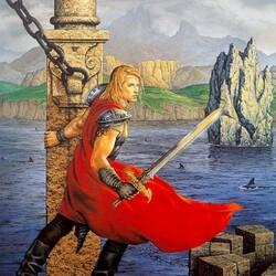 Пазл онлайн: С мечом в руках