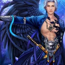 Пазл онлайн: Темно-синий