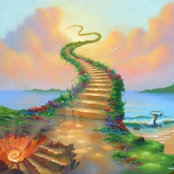 Пазл онлайн: Лестница в небо