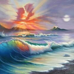 Пазл онлайн: Теплые волны