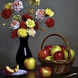 Пазл онлайн: Гвоздики и яблоки