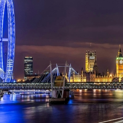 Пазл онлайн: Ночной город