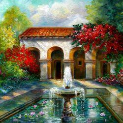 Пазл онлайн: Внутренний дворик