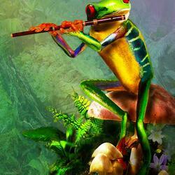 Пазл онлайн: Флейтистка