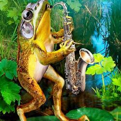 Пазл онлайн: Саксофонист