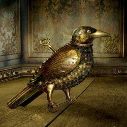 Пазл онлайн: Заводная ворона