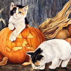 Пазл онлайн: Подготовка к Хэллоуину