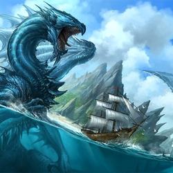 Пазл онлайн: Морской дракон
