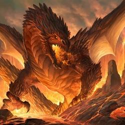 Пазл онлайн: Огненный дракон