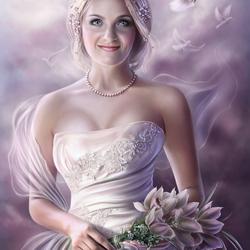 Пазл онлайн: Счастливая невеста