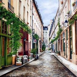 Пазл онлайн: Улицы Парижа
