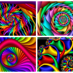 Пазл онлайн: Коллаж спиралей